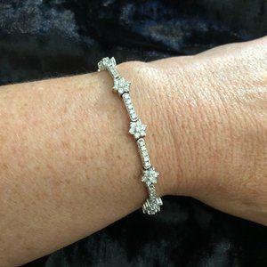 Jewelry - 14K Solid White Gold Diamond Tennis Bracelet